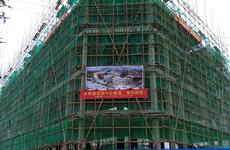 钦州市蓬莱大道临街两栋8200平米五层框架结合楼招租